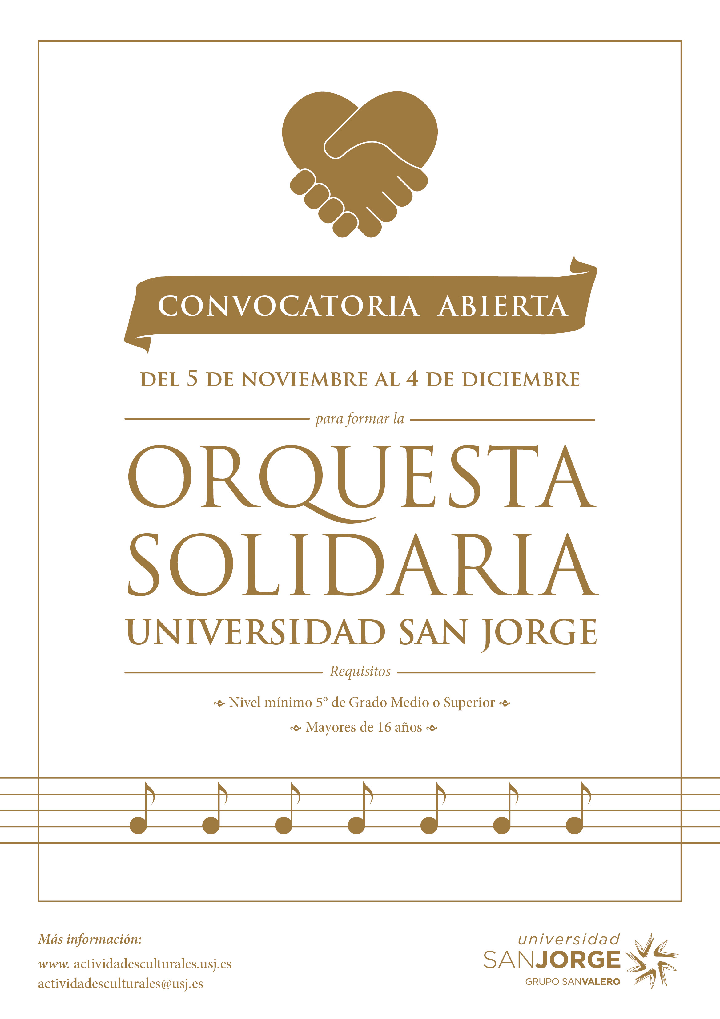 Orquesta Solidaria USJ Convocatoria 2015